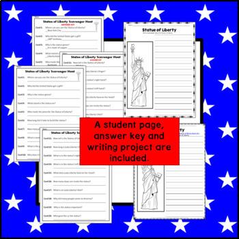 Statue of Liberty Scavenger Hunt grades 1 - 3
