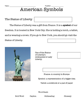 Statue of Liberty Text Feature