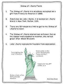 Statue of Liberty Writing Paper