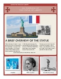 Statue of Liberty activity packet 22 pgs English sub plan