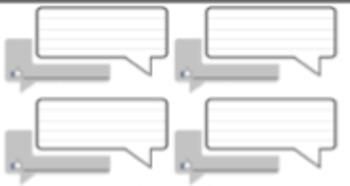 Status Bubbles/Message Boxes Exit Slips!