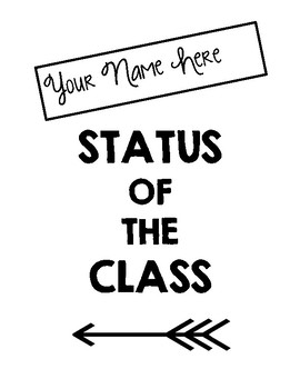Status of the Class Binder Cover & Daily Recording Sheet (EDITABLE)