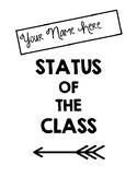 Status of the Class Binder Cover & Daily Recording Sheet (