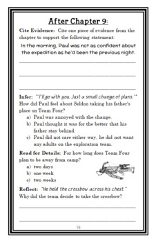 Stay Alive: Crash (Joseph Monninger) Booklet-style Novel Study