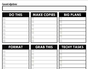 Stay Organized Teacher To-Do List