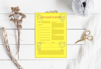 Stay Sane Printable Planner Page