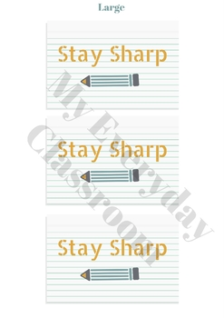 Stay Sharp - End of Year Favor Tags