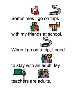 Social Story for Staying With Adults - Community Based Instruction Lesson