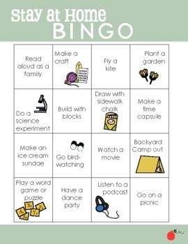 stay at home bingo  coronavirus isolation activities