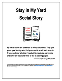 Stay in My Yard Social Story
