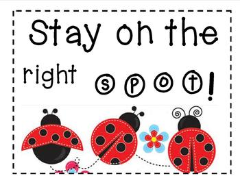 """Stay on the Right Spot!"" Behavior Image"
