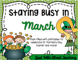 Staying Busy in March {literacy and math printables}