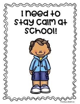 Staying Calm at School Social Story - Boy Version