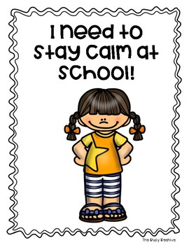 Staying Calm at School Social Story - Girl Version