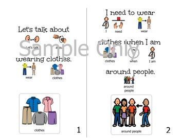 Staying Dressed/Keeping Clothes On-Adapted Book for Students with Disabilities