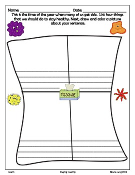 Staying Healthy - A Common Core Persuasive Writing Activity