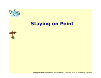Staying On Point (Point Card System)--Intro Pages