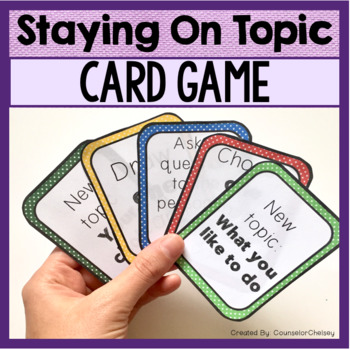 Staying On Topic Card Game