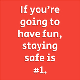 Staying Safe PE Poster | Physical Education