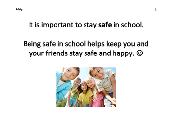 Staying Safe in School Social Story