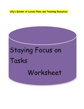 Staying focus on Tasks Worksheet