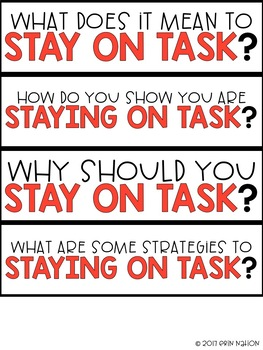 Staying on Task
