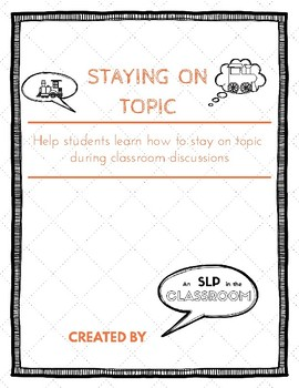 Staying on Topic Poster