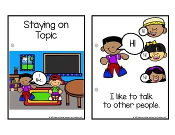 Staying on Topic Visual Social Narrative | Social Story | Social Script