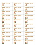 Stays Home Labels