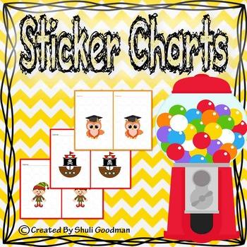 Sticker charts / reward charts