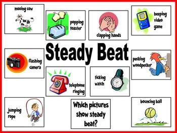Steady Beat Bulletin Board or Visual Aid Kit