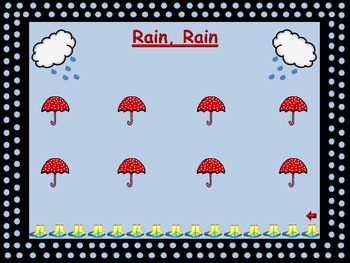"Steady Beat Chart for ""Rain, Rain"""