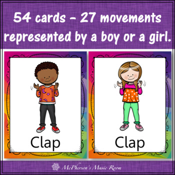 Steady Beat Movement Cards and Posters for Music Activities