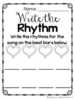 Music Worksheets - Steady Beat and Rhythm {Ready, Set, Print!}