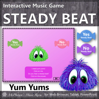 Steady Beat or Not? - Interactive Music Game Yum Yums {monsters}