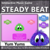 Distance Learning Music: Steady Beat or Not? Interactive Music Game {Yum Yums}