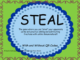 Steal- Adding and Subtracting Fractions With/Without QR Codes