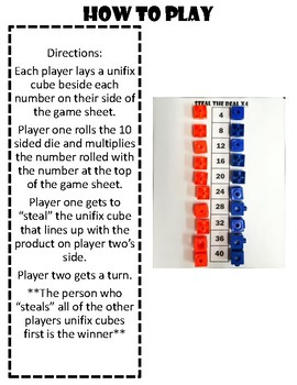 Steal the Deal Multiplication Practice