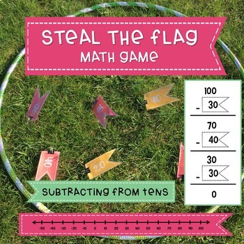 Steal the Flag Math Game | Subtracting Tens | Active Math