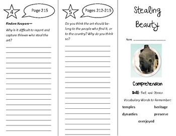 Stealing Beauty Trifold - Treasures 4th Grade Unit 2 Week 3