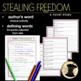 Stealing Freedom Novel Study 5th 6th Slavery Social Studies Historical Fiction