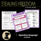 Stealing Freedom Novel Study 5th 6th Slavery Social Studie