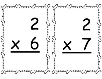 Stealing Hearts - Valentine's Day Game - Multiplication Facts