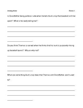 Stealing Home - Harcourt Theme 3