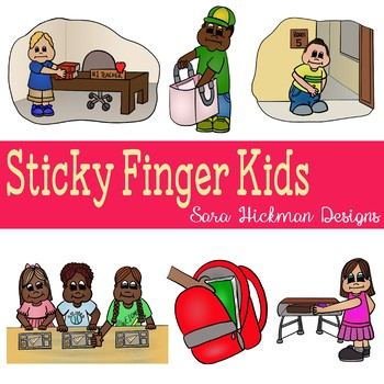 Stealing/Sticky Finger Kids Clipart