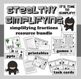 Stealthy Simplifying - all-in-one simplifying fractions bundle