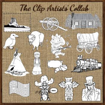 Steam Engine Clip Art   Mar. 2017 Clip Artists' Collaborative FREEBIE