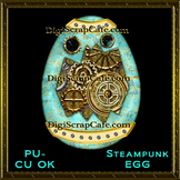 Steampunk Egg Element Transparent Full Size PSD Template C