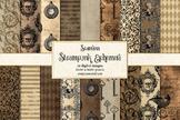Steampunk Ephemera Digital Paper
