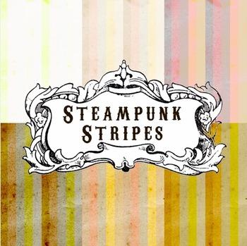 Steampunk Stripes Digital Paper